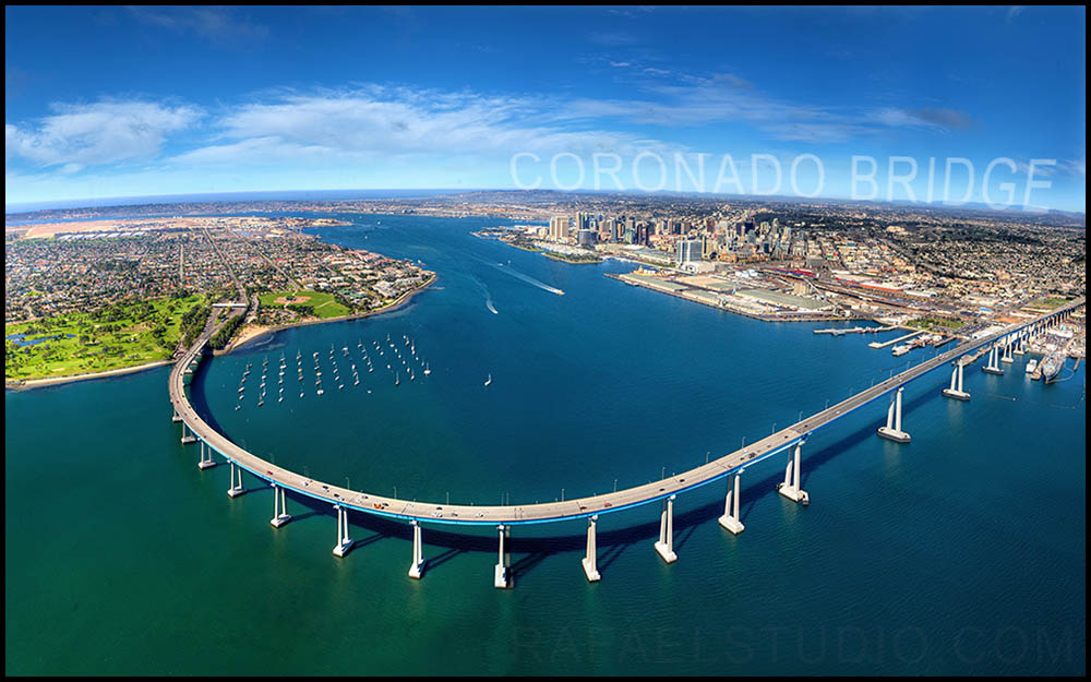 Coronado Bridge Aerial Photo