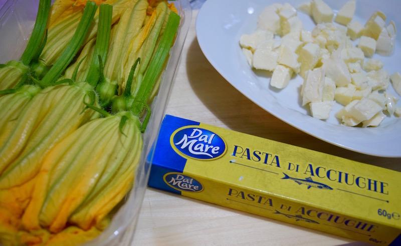 ingredienti per fiori di zucca