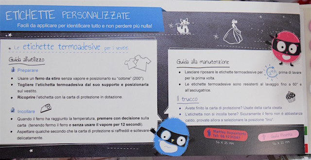 spiegazione utilizzo etichette Petit Fernand