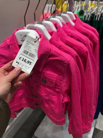 Piazza Italia giacchettino di jeans rosa da bimba