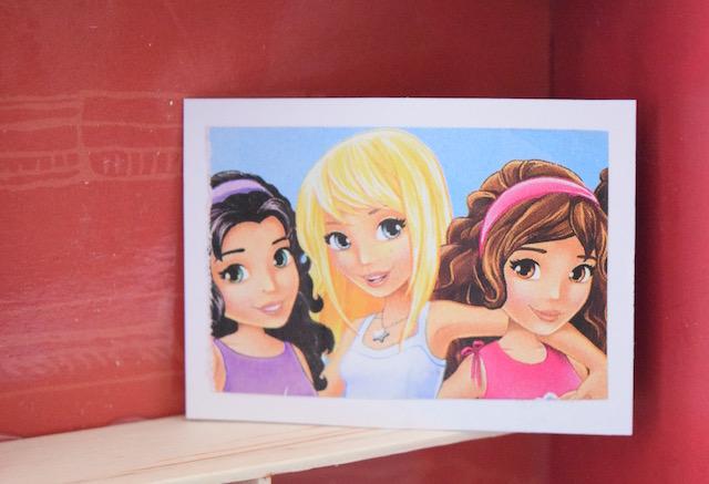 Foto con cornice per le Barbie