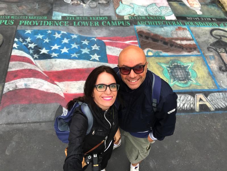 Missione Santa Barbara murales sul suolo