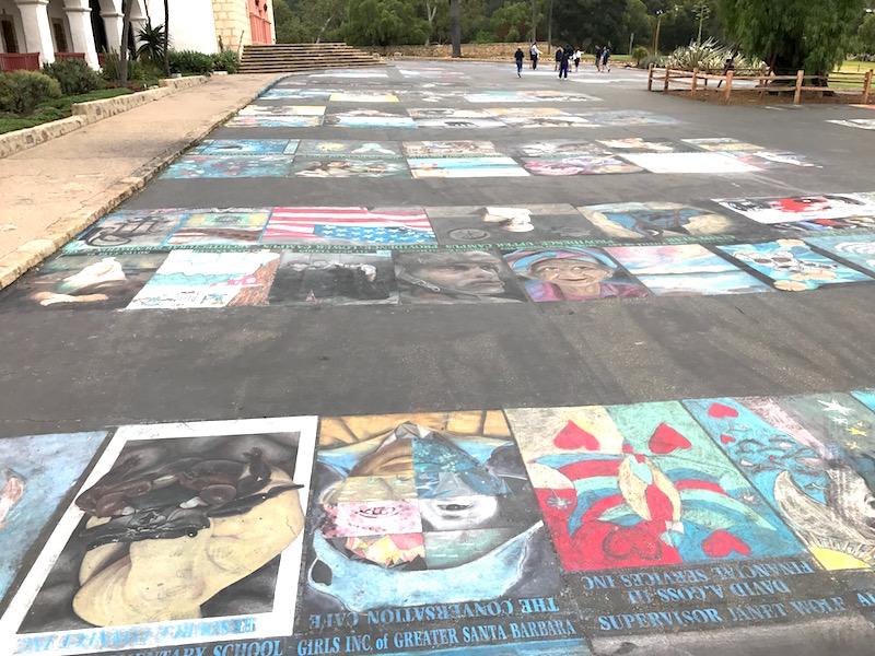 Missione Santa Barbara panoramica murales