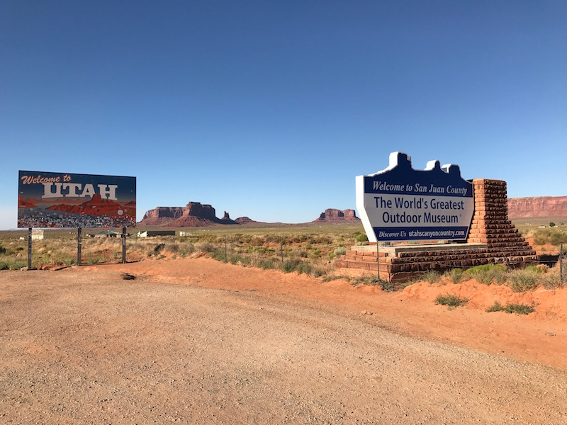 Monument Valley Welcome to Utah