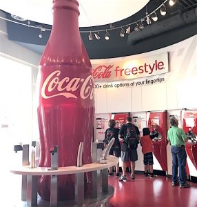 World of Coca Cola Taste your drink