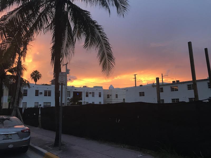 Miami tramonto